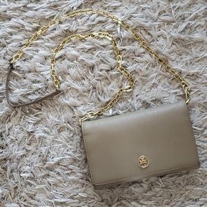 TORY BURCH Robinson Chain Bag - French Gray